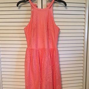 London Times coral lace dress, 4
